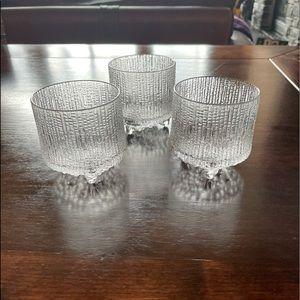 Iittala Thule 4 oz. on-the-rocks glasses - 3 piece